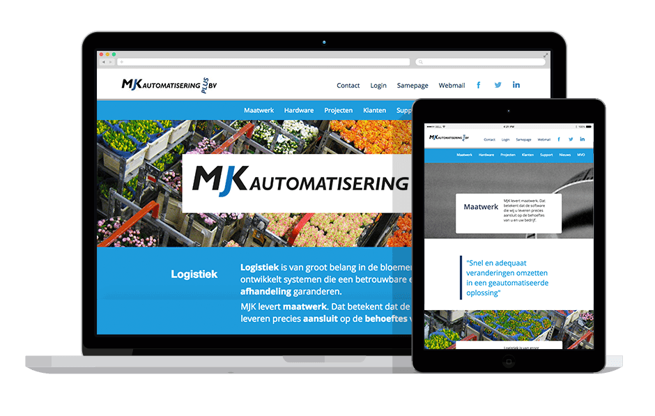 MJK Automatisering - corporate responsive website